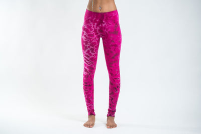 Marble Tie Dye Cotton Leggings in Pink