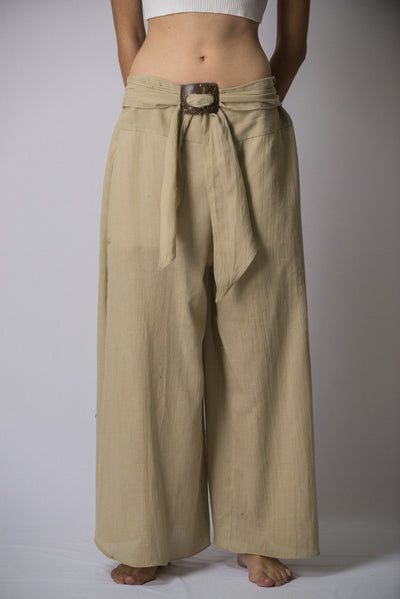Women's Thai Harem Palazzo Pants in Solid Tan