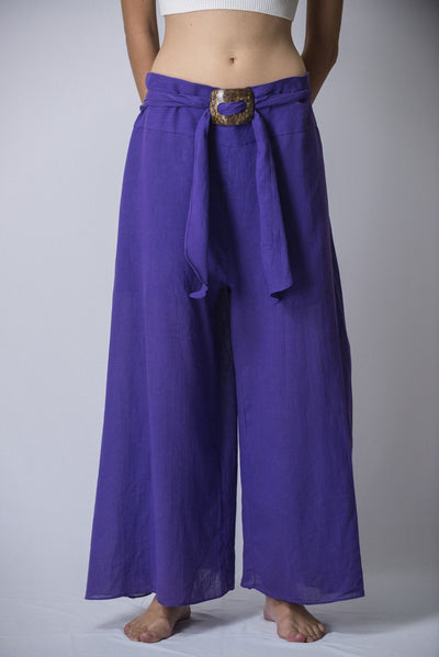 Women's Thai Harem Palazzo Pants in Solid Violet