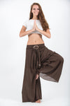 Women's Thai Harem Palazzo Pants in Solid Brown
