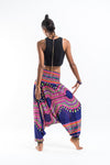 Dashiki Prints Jumpsuit Harem Pants in Navy