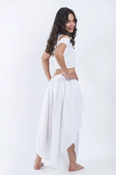 Women's Cotton Tulip Palazzo Pants in White