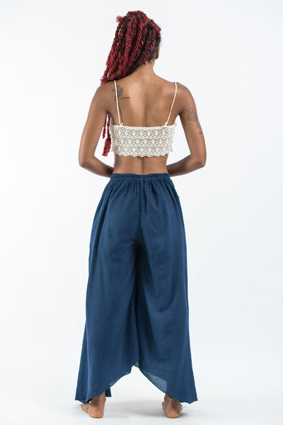 Women's Cotton Tinkerbell Palazzo Pants in Navy