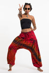 Tie Dye Cotton Women Harem Pants in Red