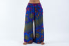 Tie Dye Wide Leg Palazzo Harem Pants Cotton Royal Blue