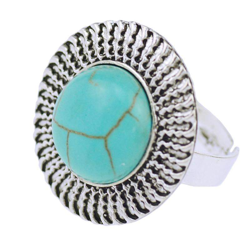 Bague tibetaine turquoise