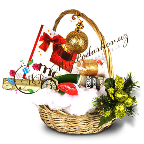 "Gift Basket ""Brightness of New Year"""