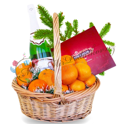 "Basket ""New Year Happiness"""