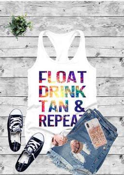 Float Tan Drink & Repeat