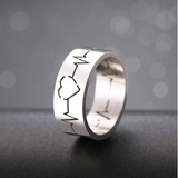 Hollow Heartbeat Love Ring