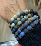 Mala - Bracelet or Necklace with Picasso Jasper Natural Stones
