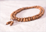 Mala - Necklace or Bracelet Prayer or Meditation with Tibetan Buddhist Wooden Stones