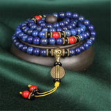 Mala - Bracelet or Necklace with Emperor Lapis Lazuli Natural Stones