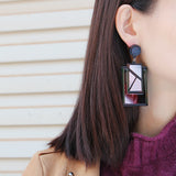 Rectangle Dangle Earrings