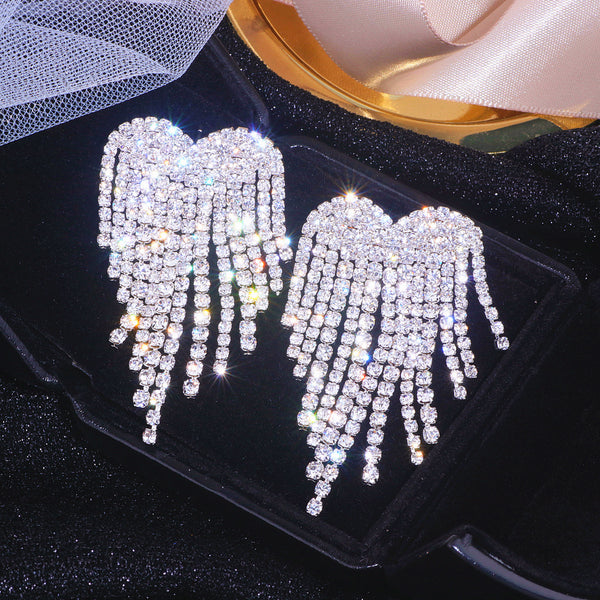 Heart Rhinestones Earrings