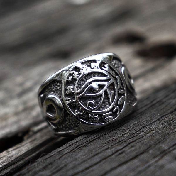 Egyptian Pharaoh Eye of Horus Ring