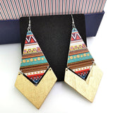 African Wooden Earrings