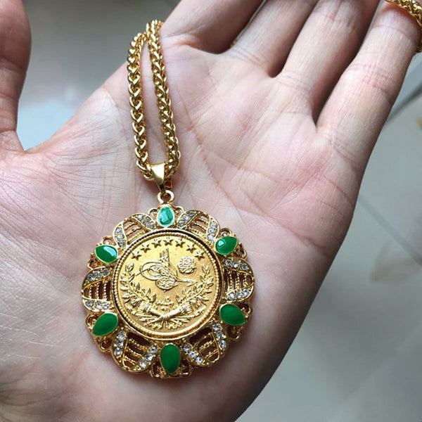 Turkish Coin Cuban Necklace