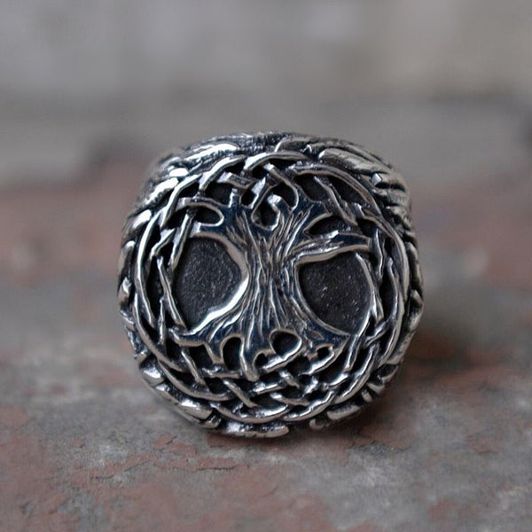 Tree of Life Vine Amulet Signet Ring
