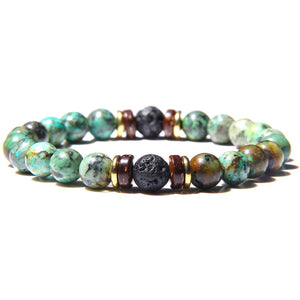 Mala Bracelet with African Turquoise Natural Stones