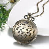 Customized To My Son Pocket Vintage Watch