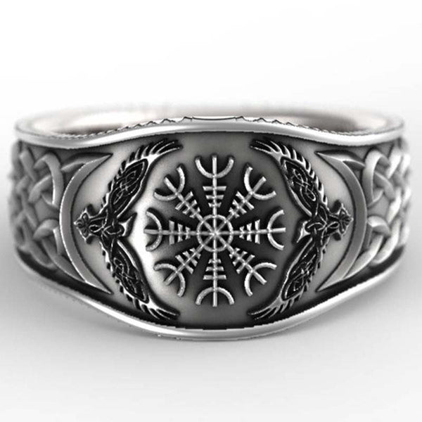 Vintage Celtic Eagle Compass  Ring