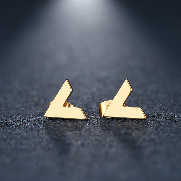 Letter-V Earrings