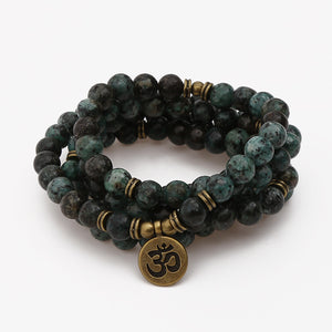Mala - Bracelet or Necklace with African Turquoise Natural Stones