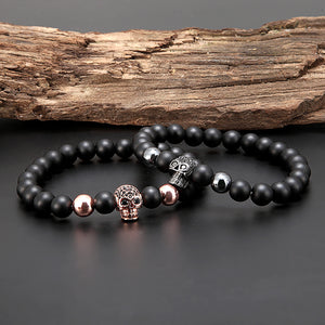 Mala Bracelet with Natural Lava Stones