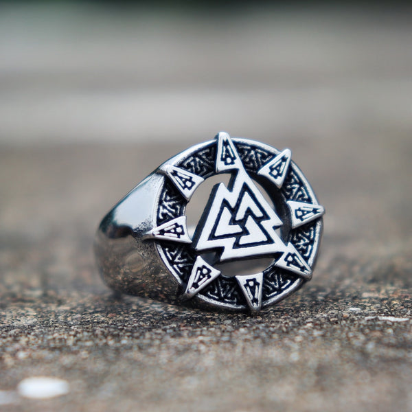 Triangle Valknut Amulet Rings