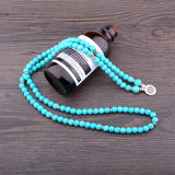 Mala - Bracelet or Necklace with Blue Turquoise Stones