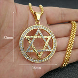 Religious Magen Star of David Pendants Necklace