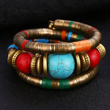 Vintaged Coloured Bangle Bracelet