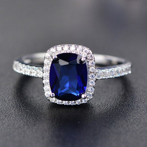Luxury Rings with Sapphire, White Topaz, Amethyst, Citrine and Emerald Precious Stones