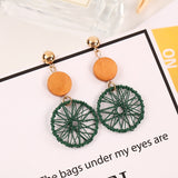 Mesh Big Round Earrings
