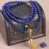 Mala - Bracelet or Necklace with Inner Eye and Lapis Lazuli Natural Stones