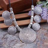 Tibetan Silver Flower-Carved Necklace