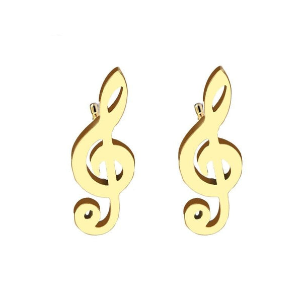 G-Clef Note Earrings