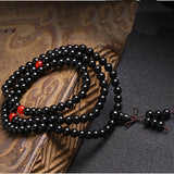 Mala - Bracelet or Necklace with Black Obsidian Stones