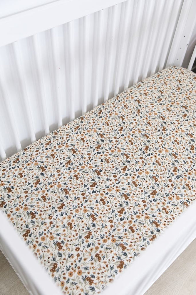 Harvest Floral Crib Sheet
