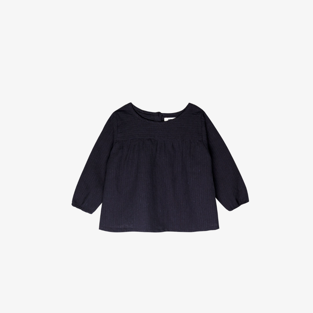 Mila Top in Navy Pinstripe