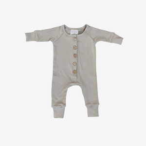 ash cotton button romper