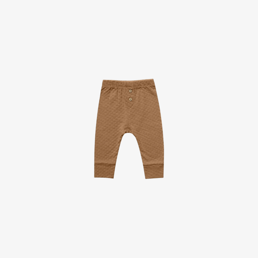 Quincy Mae Pointelle Pajama Pant in Walnut