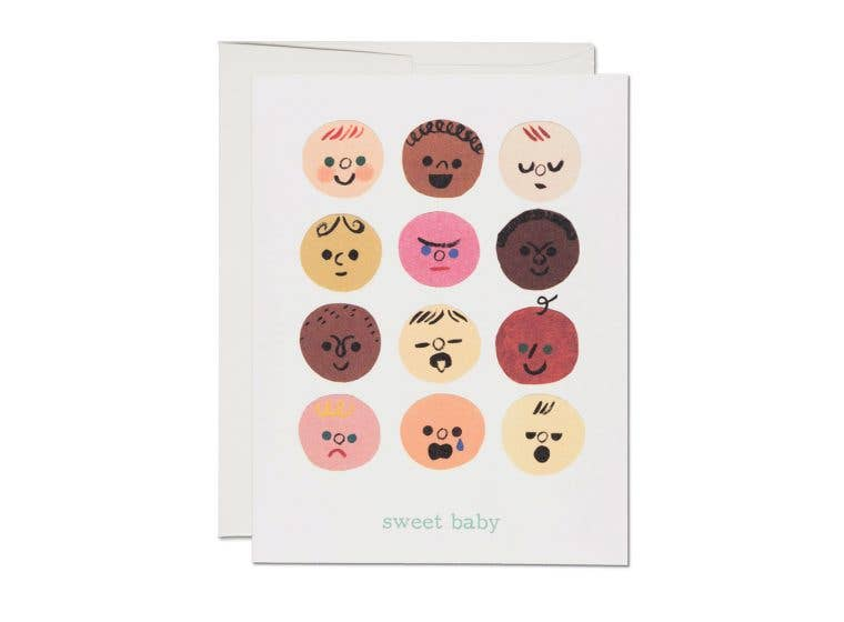 Baby Faces Baby Shower Card