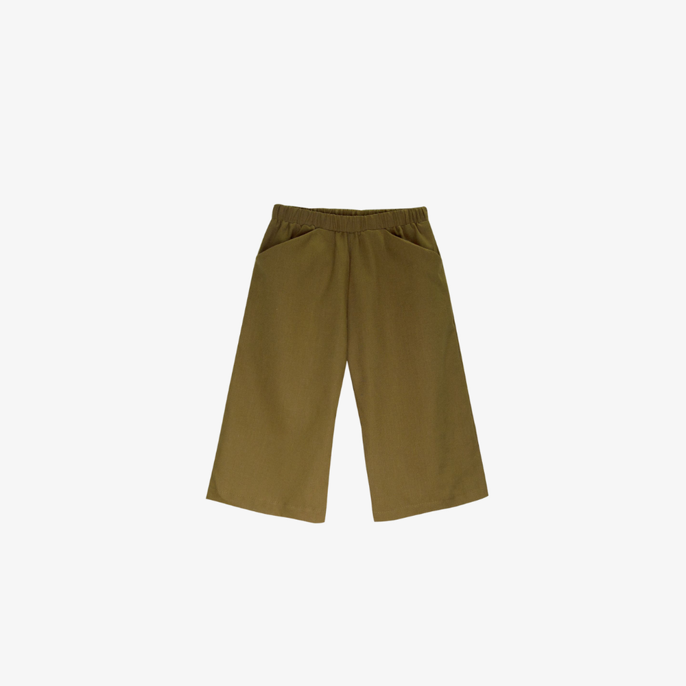 Organic Cotton Culotte in Fennel