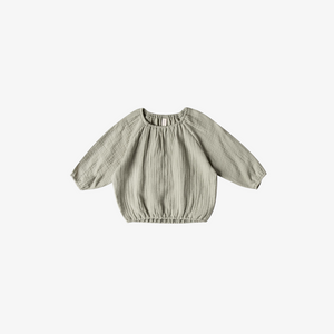 Quincy Mae Cinch Longsleeve Tee in Sage