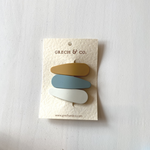 Snap Matte Clip Set of 3 - Golden, Light Blue and Buff
