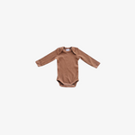 Rust Organic Cotton Ribbed Longsleeve Bodysuit
