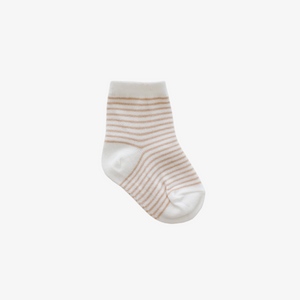 Stripe Sock in Sandy Cloud