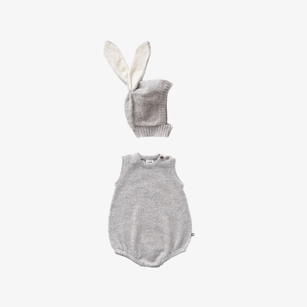 Oeuf Animal Romper and Hat Set Bunny